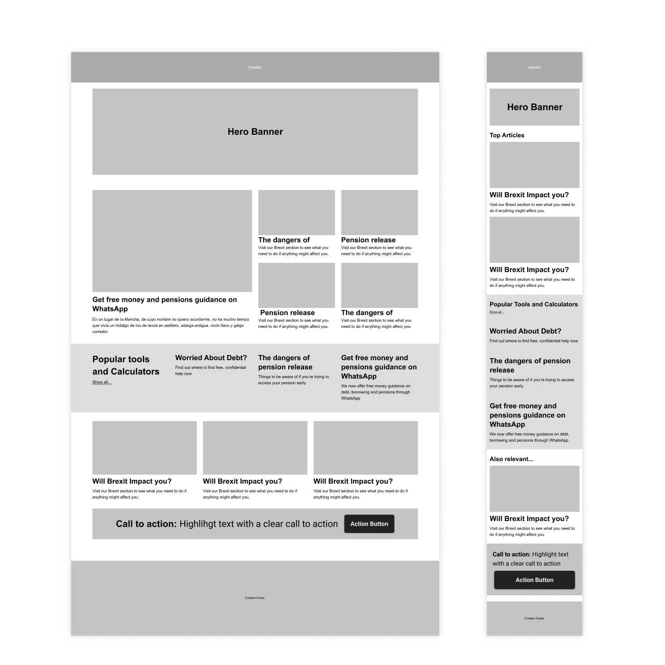 02_Home wireframe